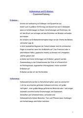 Vulkanismus und Erbeben - Zusammenfassung -