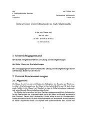 Vergleichsverfahren zum Lösen von Bruchgleichungen (8. Klasse, Gymnasium)