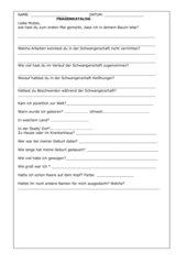 Fragebogen zur eigenen Geburt