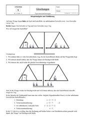 Gleichungen - Äquivalenzumformungen