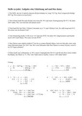Sachaufgaben mit Gleichungen lösen