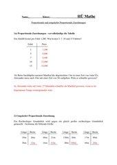 HÜ Mathematik - Zuordnungen