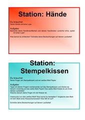 Stationenlernen Haut