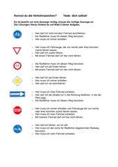 Kennst du diese Verkehrszeichen?