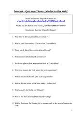 Internet- Quiz zum Thema