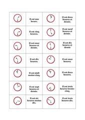 Domino - Die Uhrzeiten