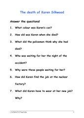 The death of Karen Silkwood - Fragen zum Buch