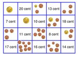 Memo-Spiel/Zuordnungsspiel: Geld