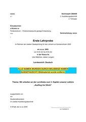 Lerntheke Lektüre - Förderzentrum G 9.Jgst