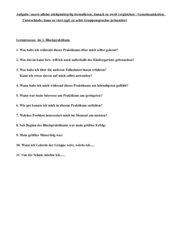 Auswertung Kindergartenpraktikum