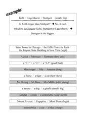 Quiz: Comparison of Adjectives er/est