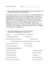 Grammatiktest für Klasse 4