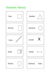 Geometrie-Zuordnungsspiel / Memo-Spiel