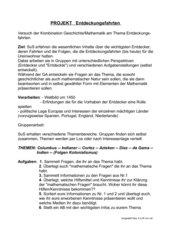 Projekt Eroberungsfahrten fächerübergreifend Mathe/Geschichte