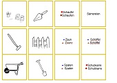 Bild-Wort-Karten Garten1