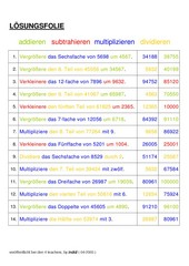 Zahlenrätsel bis 100000 (Textaufgaben)