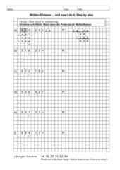Division (3-stelliger Dividend und 2-stelliger Divisor)