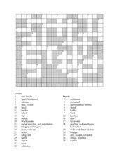 Kreuzworträtsel, Highlight 1, Unit 3