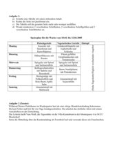 Klausur: Tabelle und Tabellenformatierung
