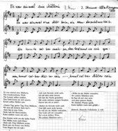 Es war einmal ein' Müllerin - Liedsatz mit Blockflöten