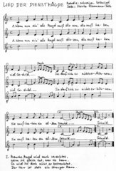Lied der Dienstmägde - Liedsatz mit Blockflöten