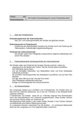 Unterrichtsentwurf für Fachrichtung LB