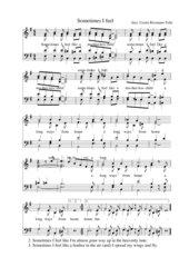 Sometimes I feel like a motherless child - Spiritual für vierstimmig gemischten Chor