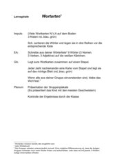 Wortarten-Lernspirale