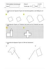 Mathetest Verschiebungen