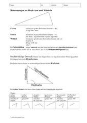 Benennungen an Dreiecken und Winkeln