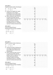 Lineare Gleichungssysteme und der Schnitt zweier Geraden