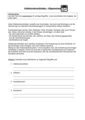 Infektionskrankheiten - Erste Info und Aufgaben