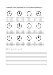 Uhrzeit - volle Stunden
