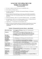Sprach- und Wirkungsanalyse