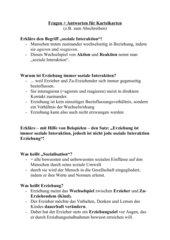 Lernkärtchen Erziehung (Grundbegriffe)