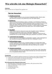 Tipps für Sek I und Sek II: Wie schreibe ich eine Biologie-Hausarbeit