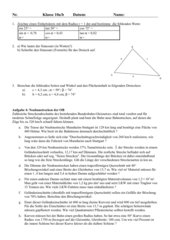 Klassenarbeit Trigonometrie