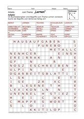 Buchstabengitter-LERNEN mit Löser