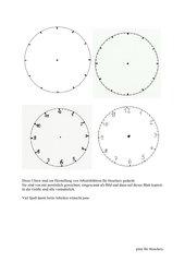 4 Uhren für Arbeitsblätter