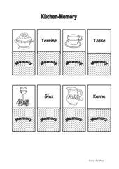 Memo-Spiel / Zuordnungsspiel rund um das Thema Küche