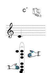 Griffbilder für Blockflöte Ton c´