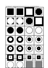 Memo-Spiel / Zuordnungsspiel :  Geometrische Figuren