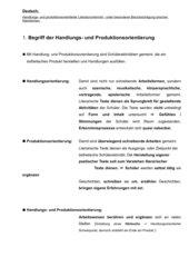 Handlungs- und produktionsorientierter Literaturunterricht - unter besonderer Berücksichtigung lyrischer Kleinformen