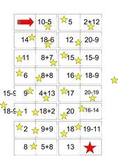 Plus/Minus-Domino Zahlenraum bis 20