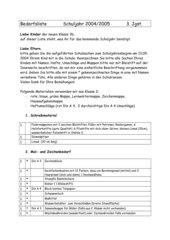 Bedarfsliste GS 3. Klasse, Bayern