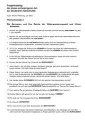 56 schwierige Fragen zur Geschichte der Germanen