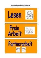 Symbolkarten für den Anfangsunterricht