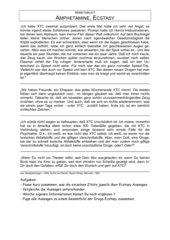 Texte / Arbeitsblatt zu Amphetaminkonsum