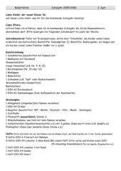 Bedarfsliste 3. Klasse Bayern