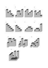 Geometrie - Würfelgebäude